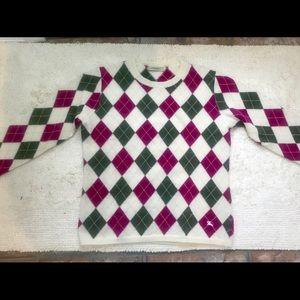 Burberry argyle sweater authentic
